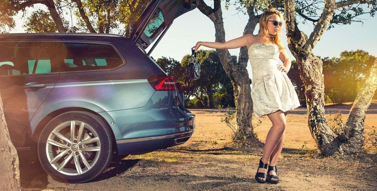 Shooting mit Model Wiktoria und dem VW Passat Variant