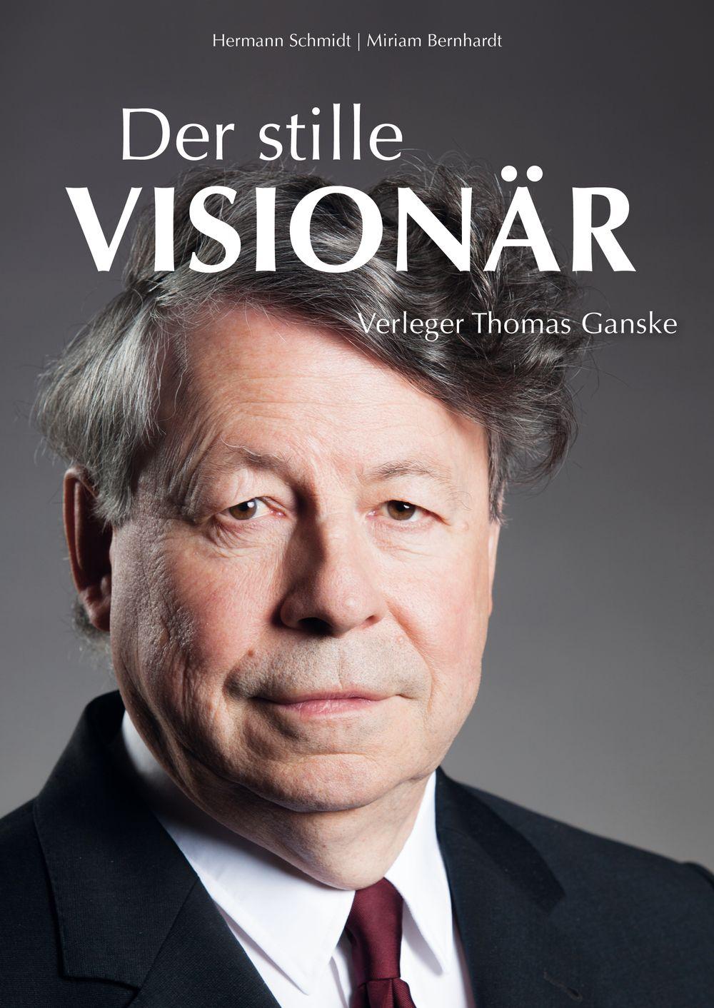 Hermann Schmidt, Miriam Bernhardt: Der stille Visionär – Verleger Thomas Ganske New Business Verlag (2018), 348 Seiten, vierfarbig, 30 Abbildungen Hardcover mit Schutzumschlag, 38,00 Euro, ISBN: 978-3-936182-62-0