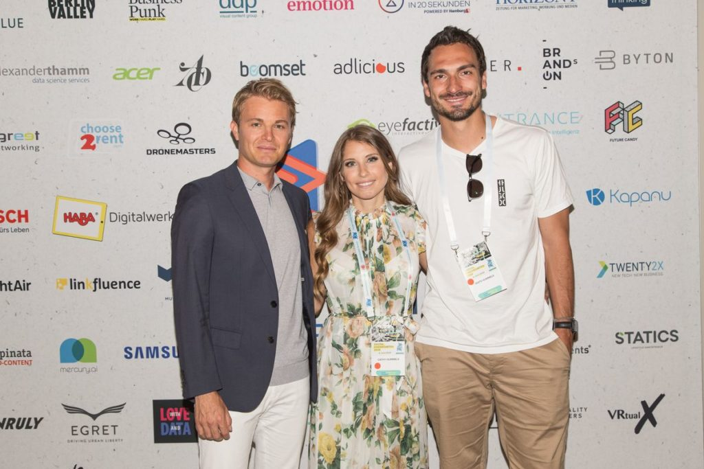 Nico Rosberg, Cathy Hummels, Mats Hummels