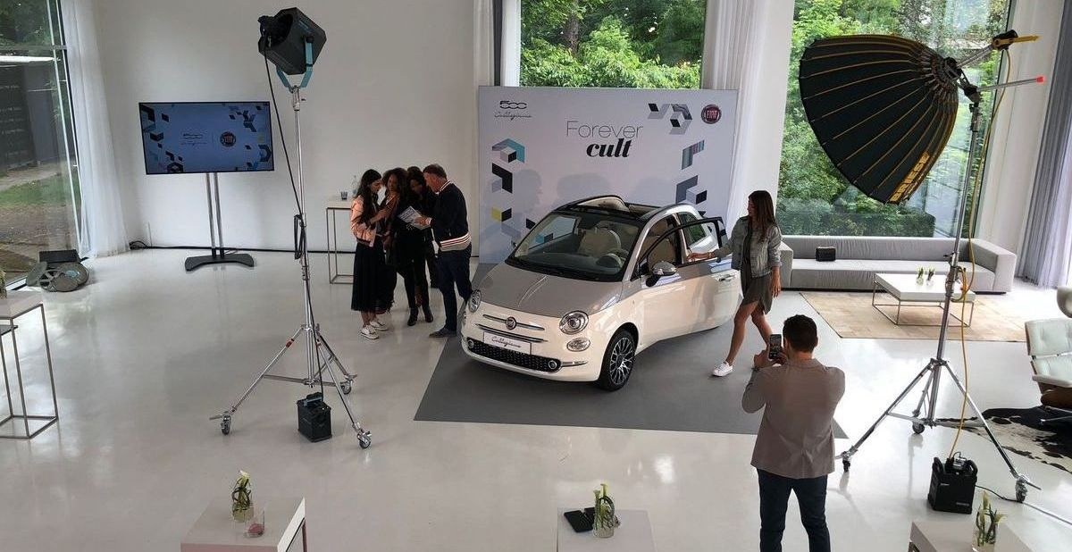 Peserico-Shooting: Fashion-Model, Fiat 500 Collezione