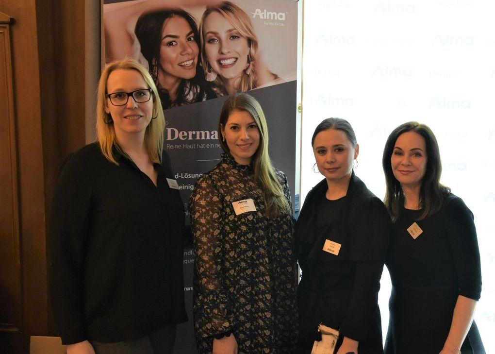 Alma Lasers: Christine Krieger, Neva Talwar, Melanie Lauk, Viola Aladag