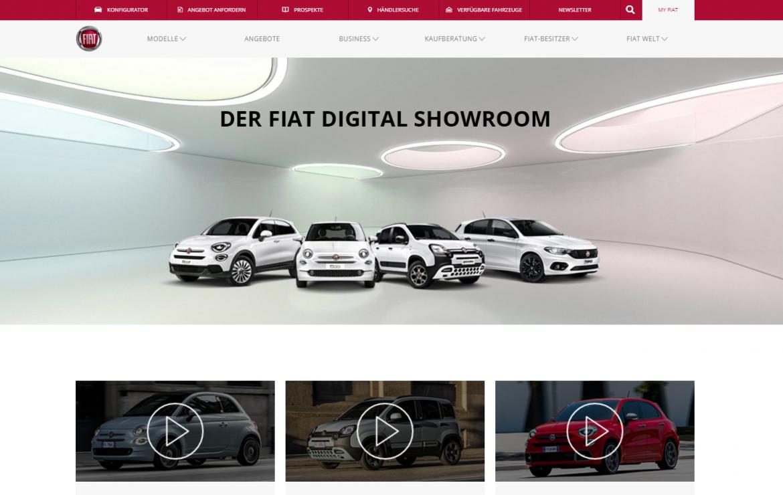 Digitale Showrooms im Internet statt Besuch im Autohaus – Abarth, Alfa Romeo, Fiat und Jeep® präsentieren Modellpalette mit Online-Videos