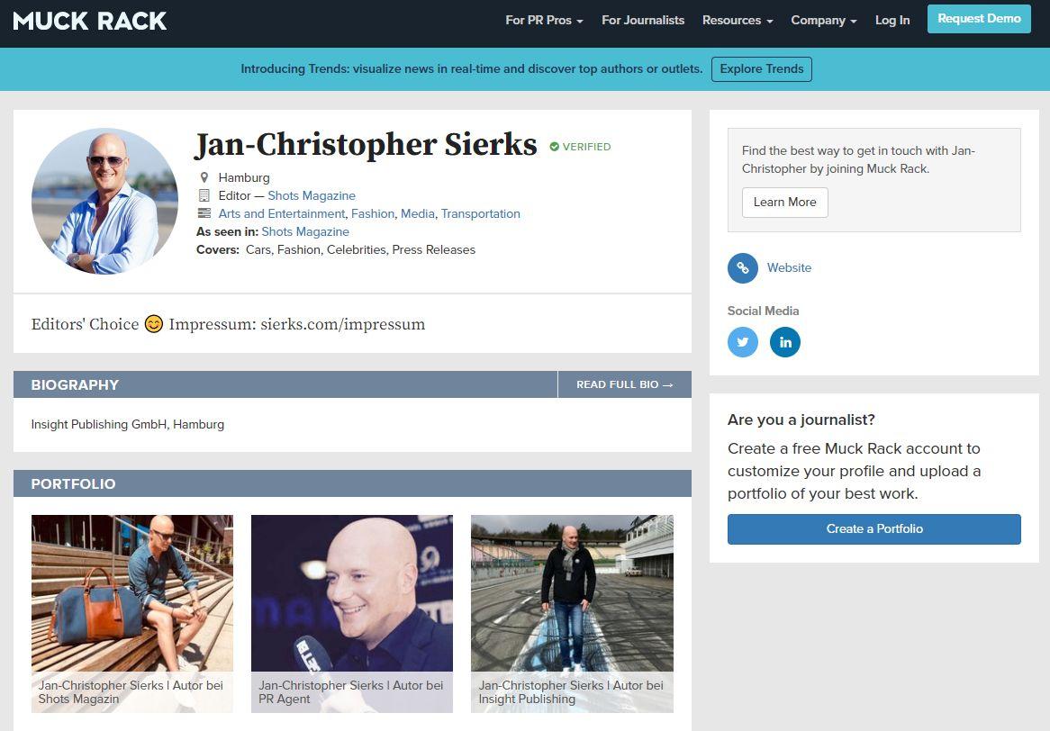 Muck Rack, Jan-Christopher Sierks