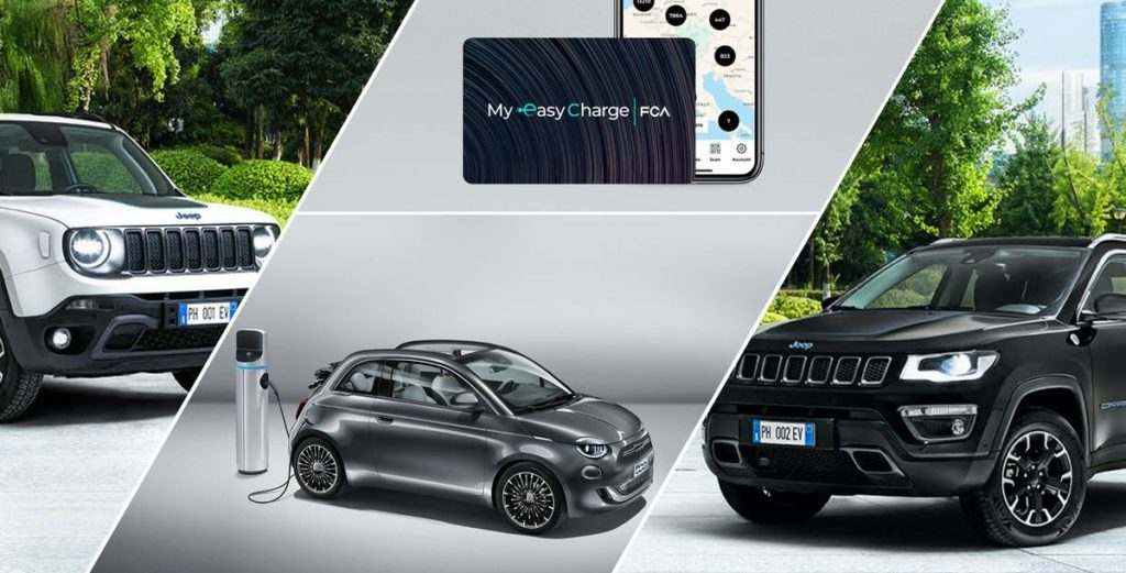 Fiat Chrysler Automobiles und Digital Charging Solutions laden Elektroautos