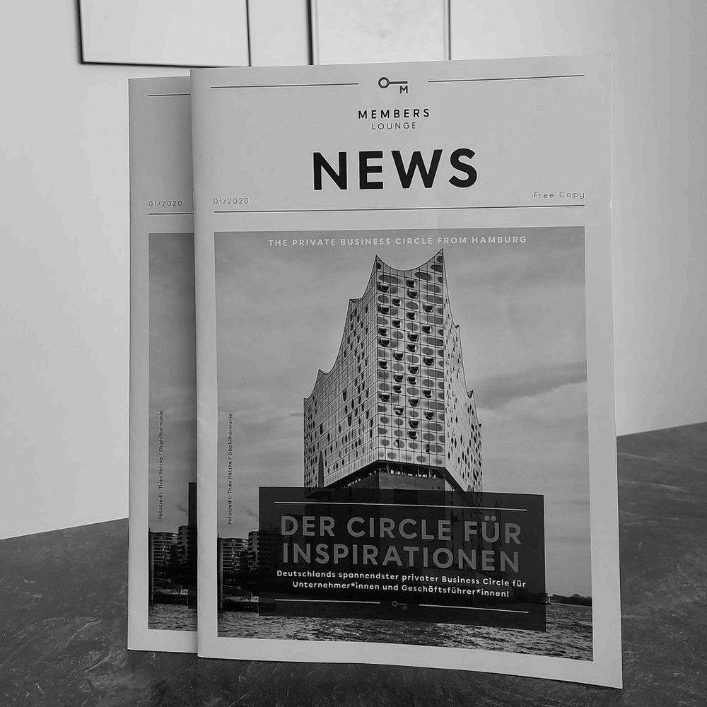 Gedruckte News der Members Lounge