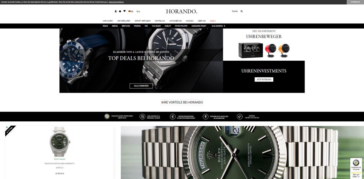 Der Online-Shop von Horando unter horando.de.