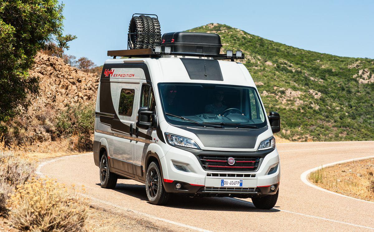 Privatsphäre und unabhängiges Reisen verspricht auch der Fiat Professional Ducato 4x4 Expedition.