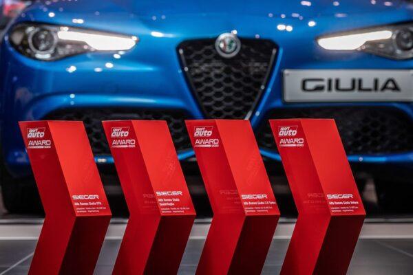 Sport Auto Award 2020: Vier Pokale für die Giulia