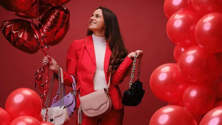 Wild Thing Bags: Model Minela Fisic mit Handtaschen-Shooting