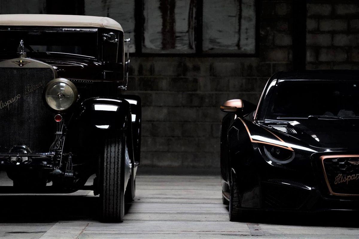 Zwei Generationen: Der Hispano Suiza H6 und der Carmen Boulogne.