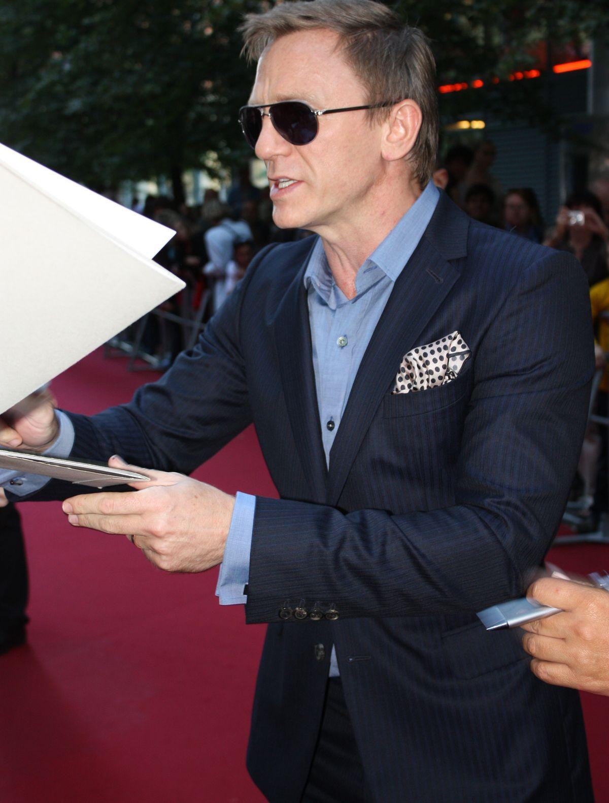Daniel Craig bei einer Filmpremiere in London